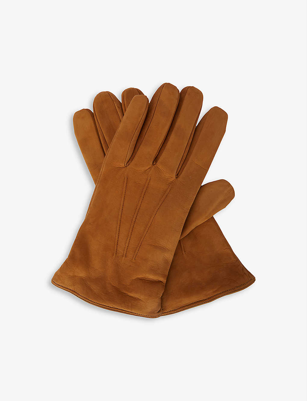 ELEVENTY: Leather and cashmere gloves
