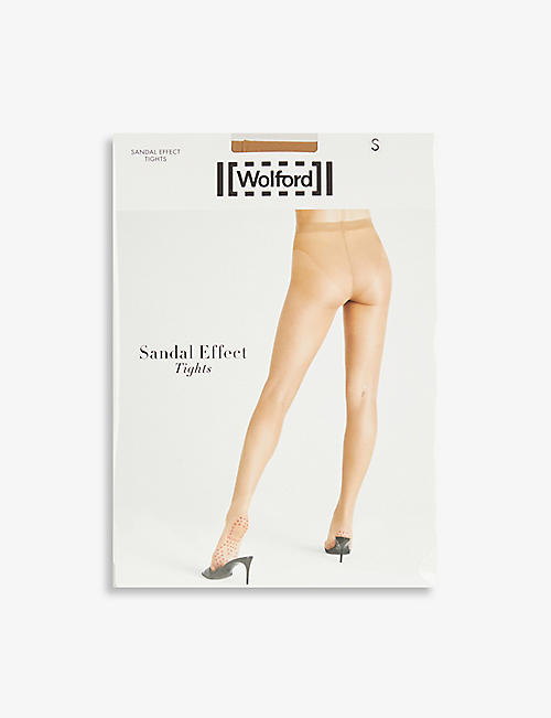 WOLFORD: Sandal Effect knitted tights