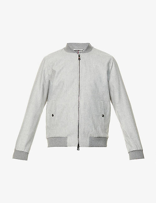 TOMMY HILFIGER: Tailored-fit wool-blend bomber jacket