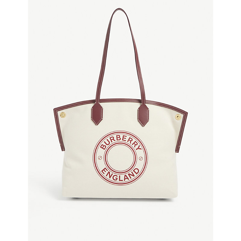 Burberry SOCIETY MEDIUM CANVAS TOTE BAG