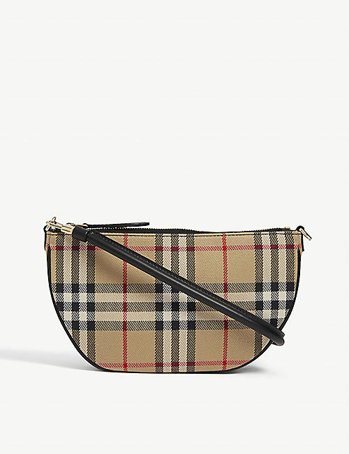 BURBERRY: Olympia Vintage cotton pouch