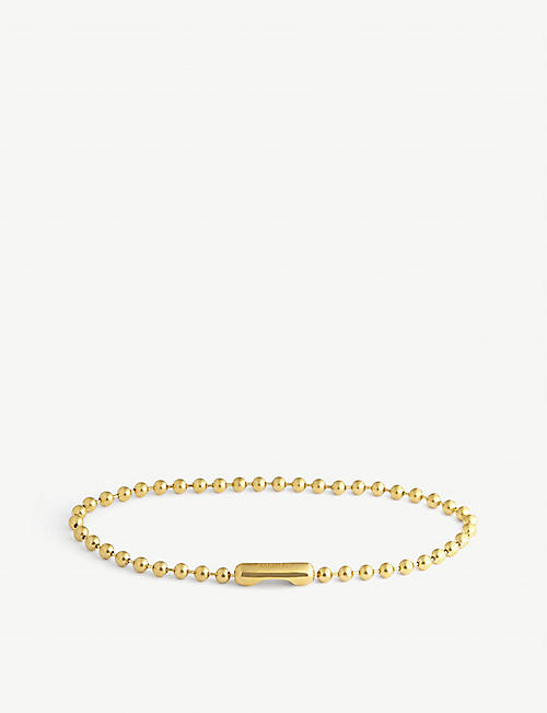 AMBUSH: Ball-chain sterling silver choker necklace