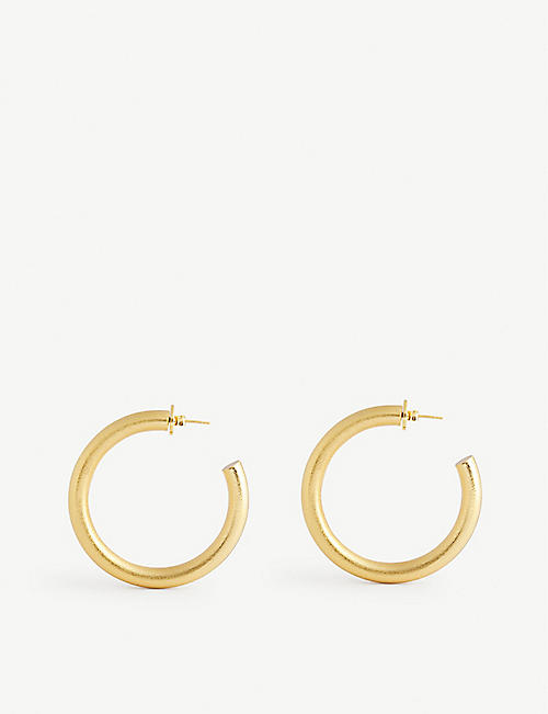 ANISSA KERMICHE: Hoops Don't Lie 18ct gold-plated hoop earrings