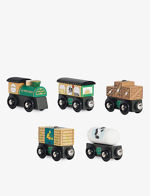 LE TOY VAN: Great Green Train five-piece wooden train set