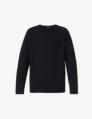 SLOWEAR: Crewneck wool and cashmere-blend jumper