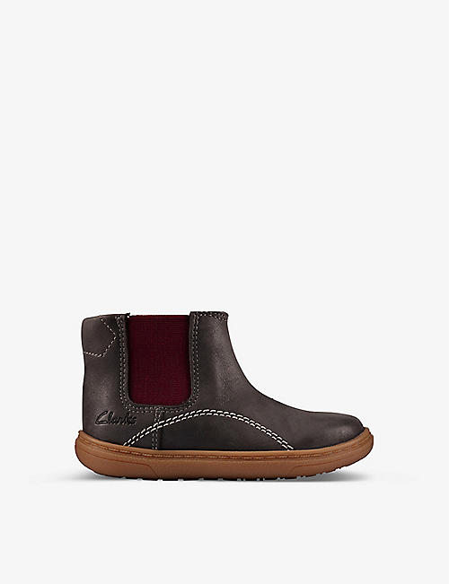 CLARKS: Flash Sea leather ankle boots 1-5 years
