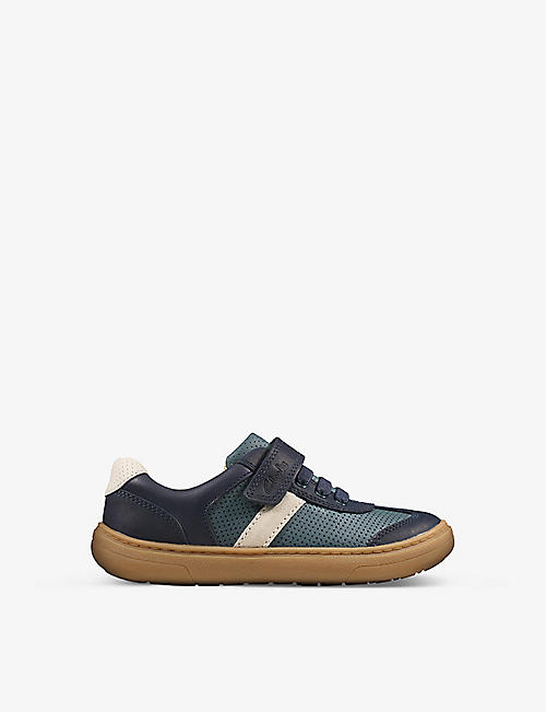 CLARKS: Flash Step leather trainers 6-9 years