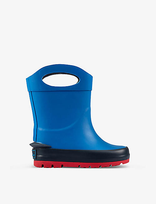 CLARKS: Mudder Dash wellington boots 1-4 years