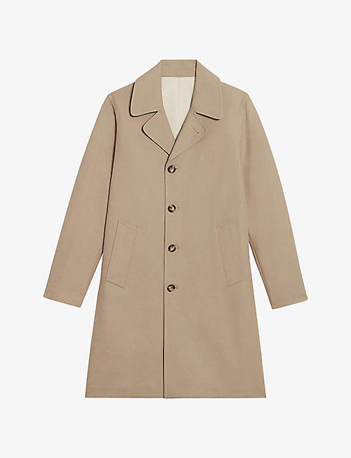SANDRO: Camden relaxed-fit cotton car coat