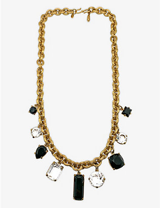 JENNIFER GIBSON JEWELLERY: Pre-loved Monet Swarovski-crystal and gold-plated necklace