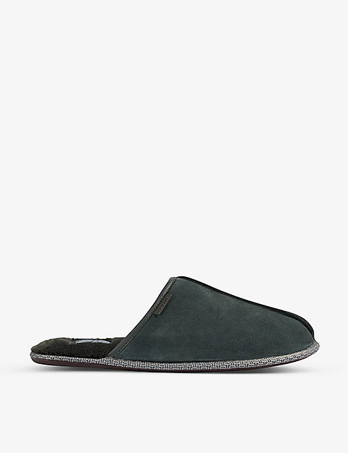 TED BAKER: Darax leather slippers