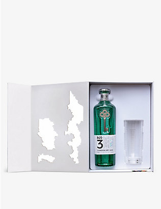 NO 3: No. 3 London dry gin with glass set 700ml