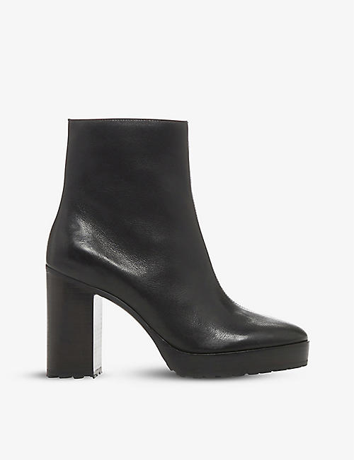 BERTIE: Proven leather platform heeled ankle boots