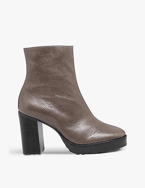 BERTIE: Proven heeled leather ankle boots