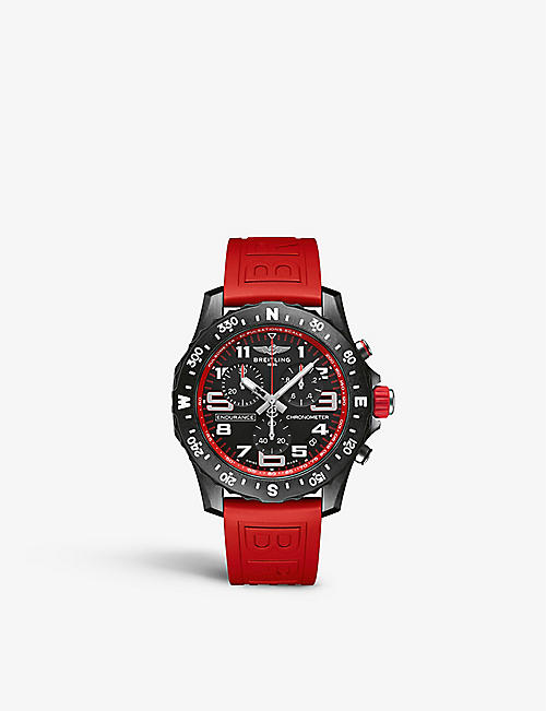 BREITLING: X82310D91B1S1 Endurance Pro Breitlight® and rubber Thermocompensated SuperQuartz™ watch