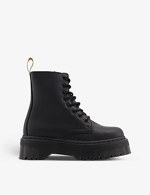 DR. MARTENS: Jadon 8-eye vegan-leather platform boots