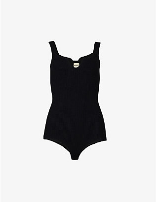 KHAITE: Yves ribbed knitted body