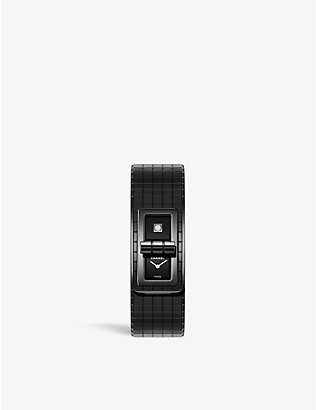 CHANEL: H6426 Code Coco steel, ceramic and 0.01 diamond watch