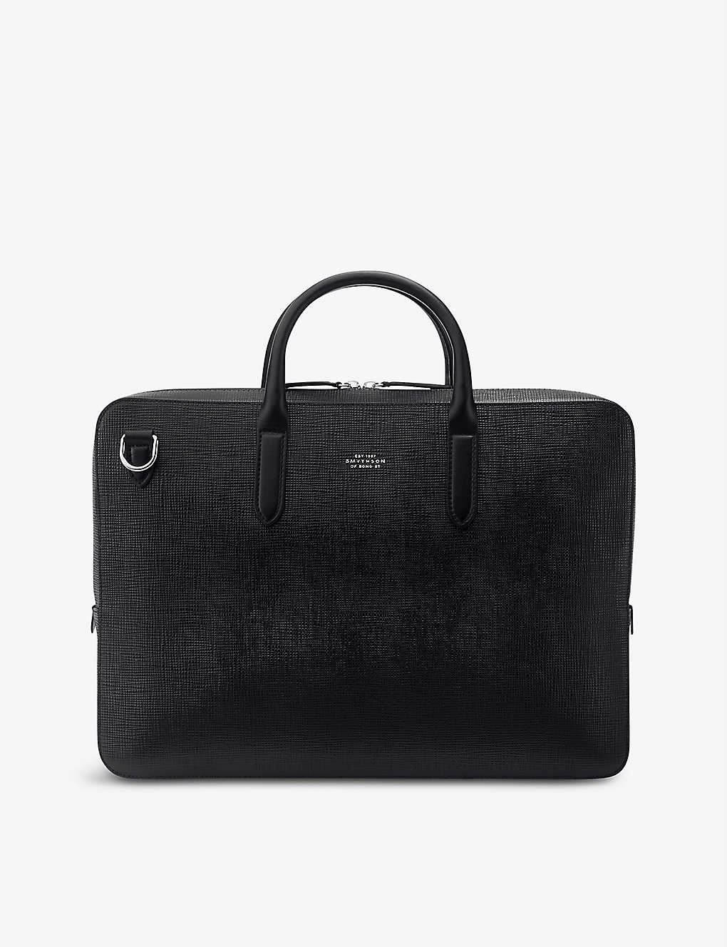 SMYTHSON: Panama cross-grain leather briefcase
