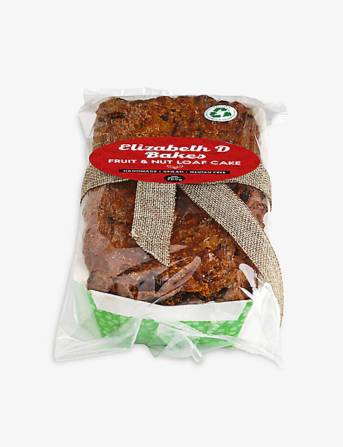 ELIZABETH D BAKES: Vegan and glute-free fruit and nut festive loaf 650g