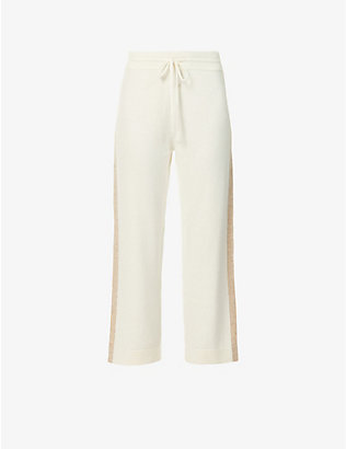 CHINTI AND PARKER: Cropped wide-leg high-rise cashmere trousers