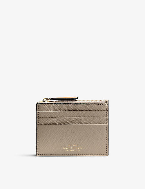 SMYTHSON: Panama 6cc leather coin purse