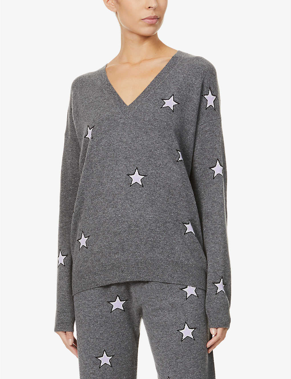 CHINTI AND PARKER: Star-print wool and cashmere-blend jumper