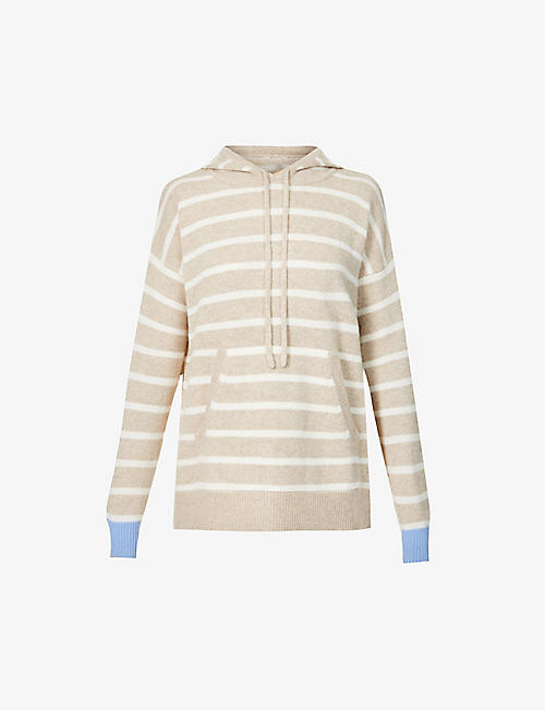 CHINTI AND PARKER: Striped cashmere hoody