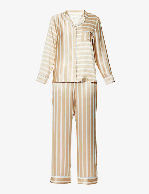 CHINTI AND PARKER: Striped silk pyjama set