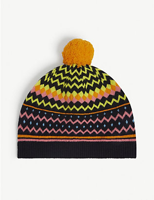 CHINTI AND PARKER: Fair Isle wool-blend beanie