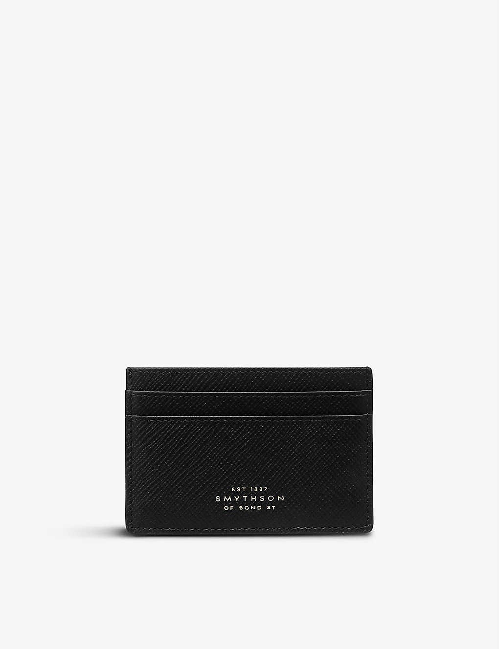 SMYTHSON: Panama leather card holder