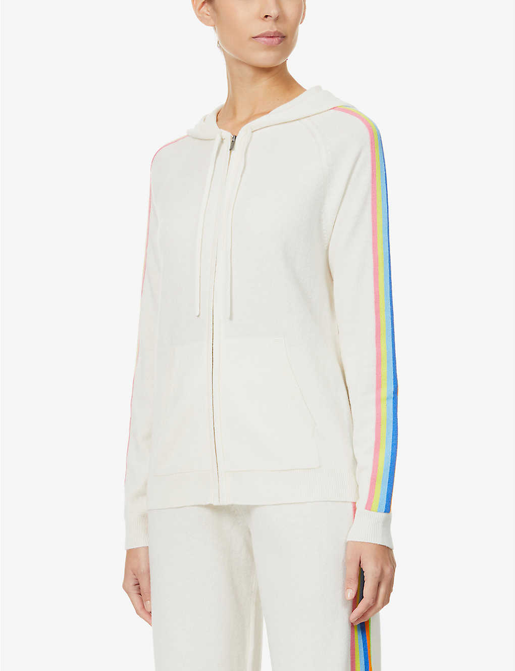 CHINTI AND PARKER: Side-stripe wool and cashmere-blend hoody
