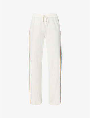 CHINTI AND PARKER: Side-stripe mid-rise wool and cashmere-blend trousers