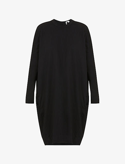 BASSIKE: Dropped-shoulder organic-cotton midi dress