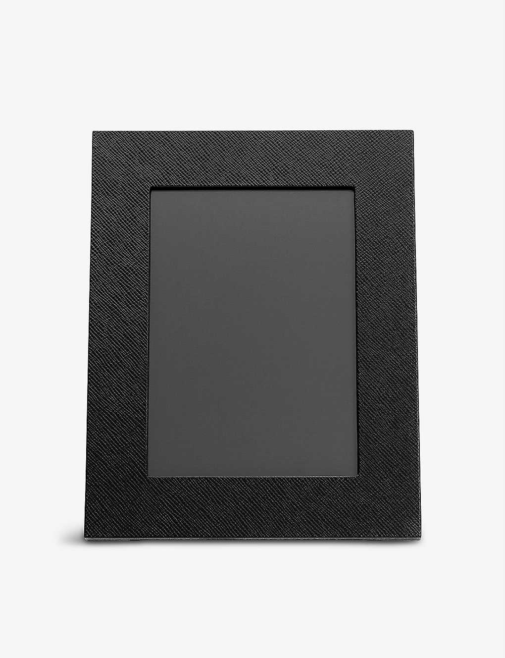 SMYTHSON: Panama crossgrain leather photo frame 16.7x21.5cm