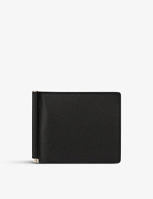 SMYTHSON: Panama leather money clip wallet