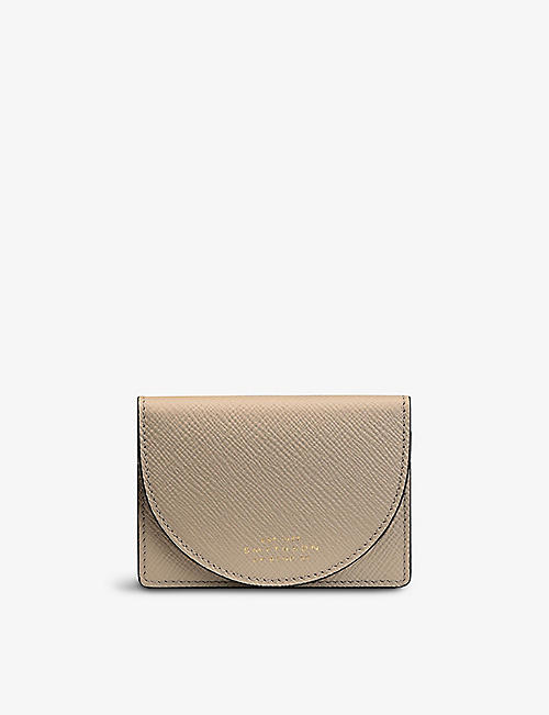 SMYTHSON: Panama moon crossgrain card case with mirror