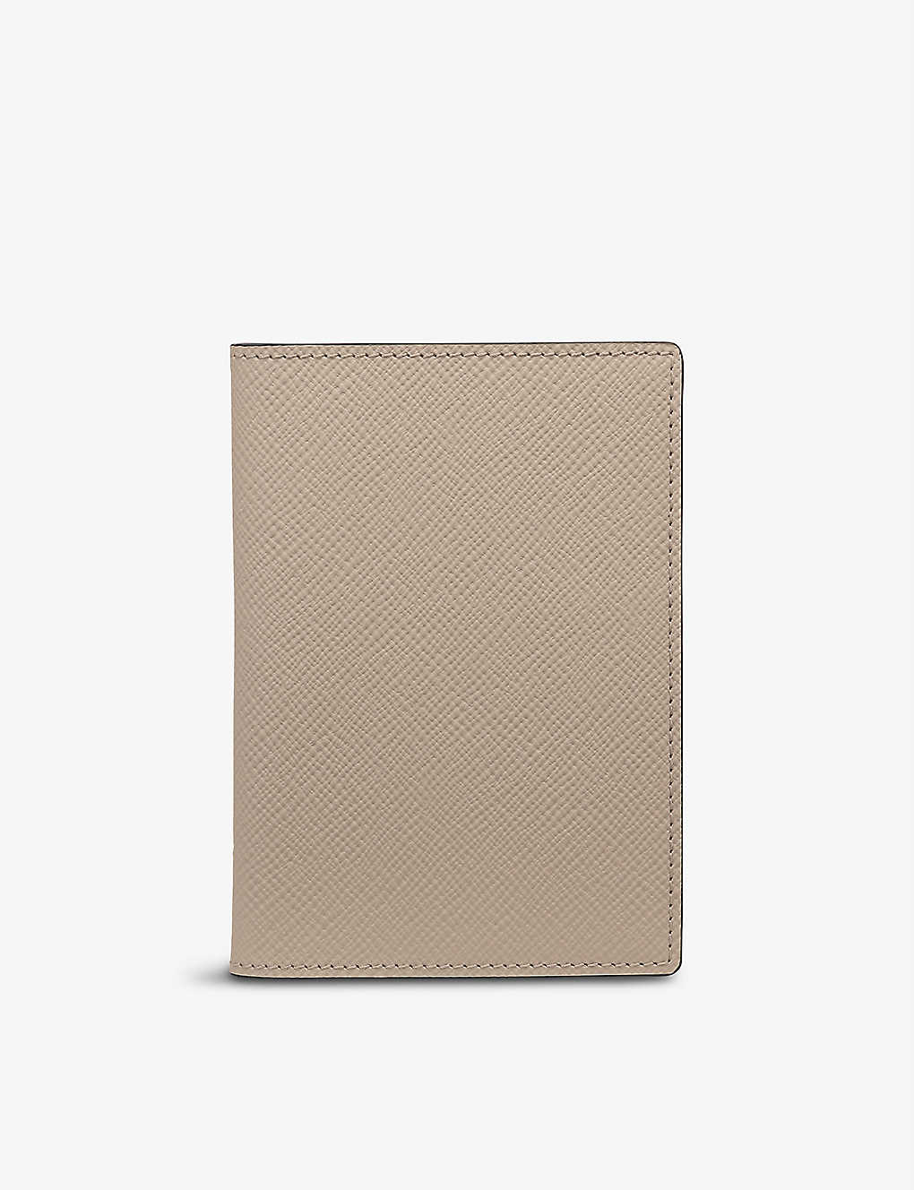 SMYTHSON: Sandstone leather passport cover