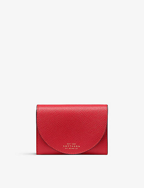 SMYTHSON: Panama Moon compact leather purse