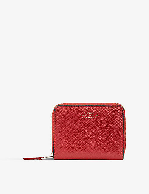 SMYTHSON: Scarlet red zip coin purse