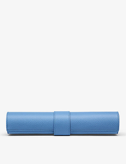 SMYTHSON: Panama leather travel Backgammon roll
