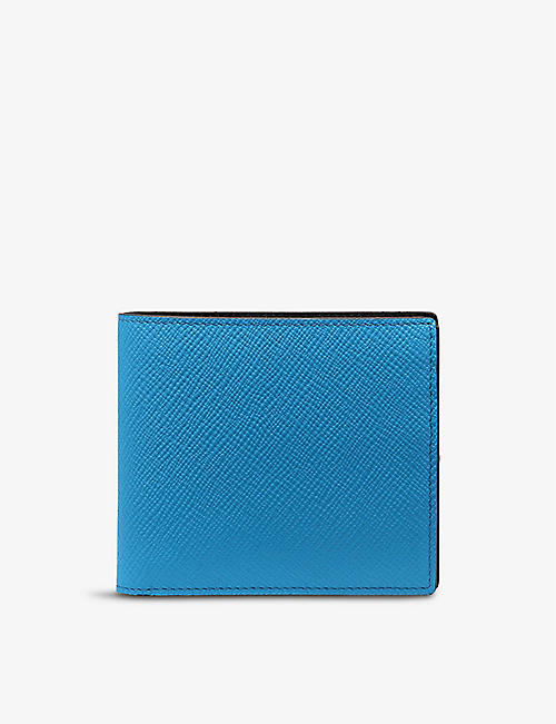 SMYTHSON: Panama leather wallet with coin pocket