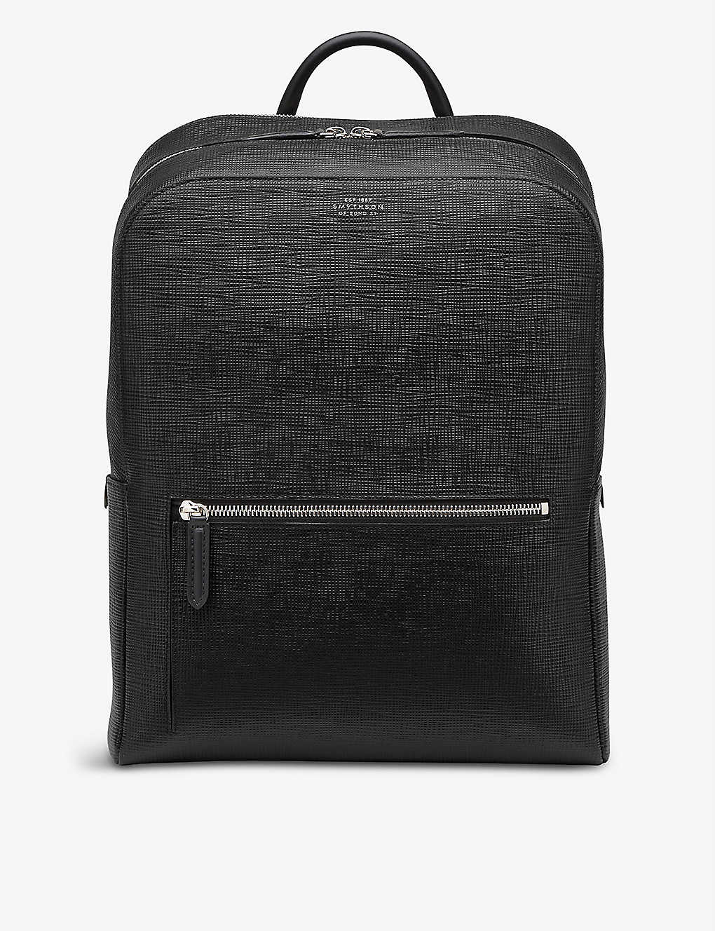SMYTHSON: Panama zip-around leather backpack