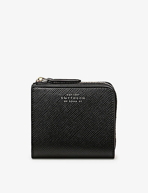 SMYTHSON: Panama Zip Around leather bifold wallet