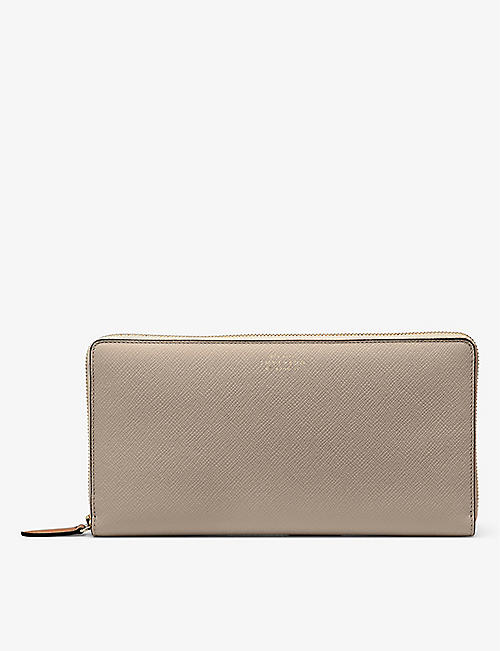 SMYTHSON: Panama zip leather travel wallet
