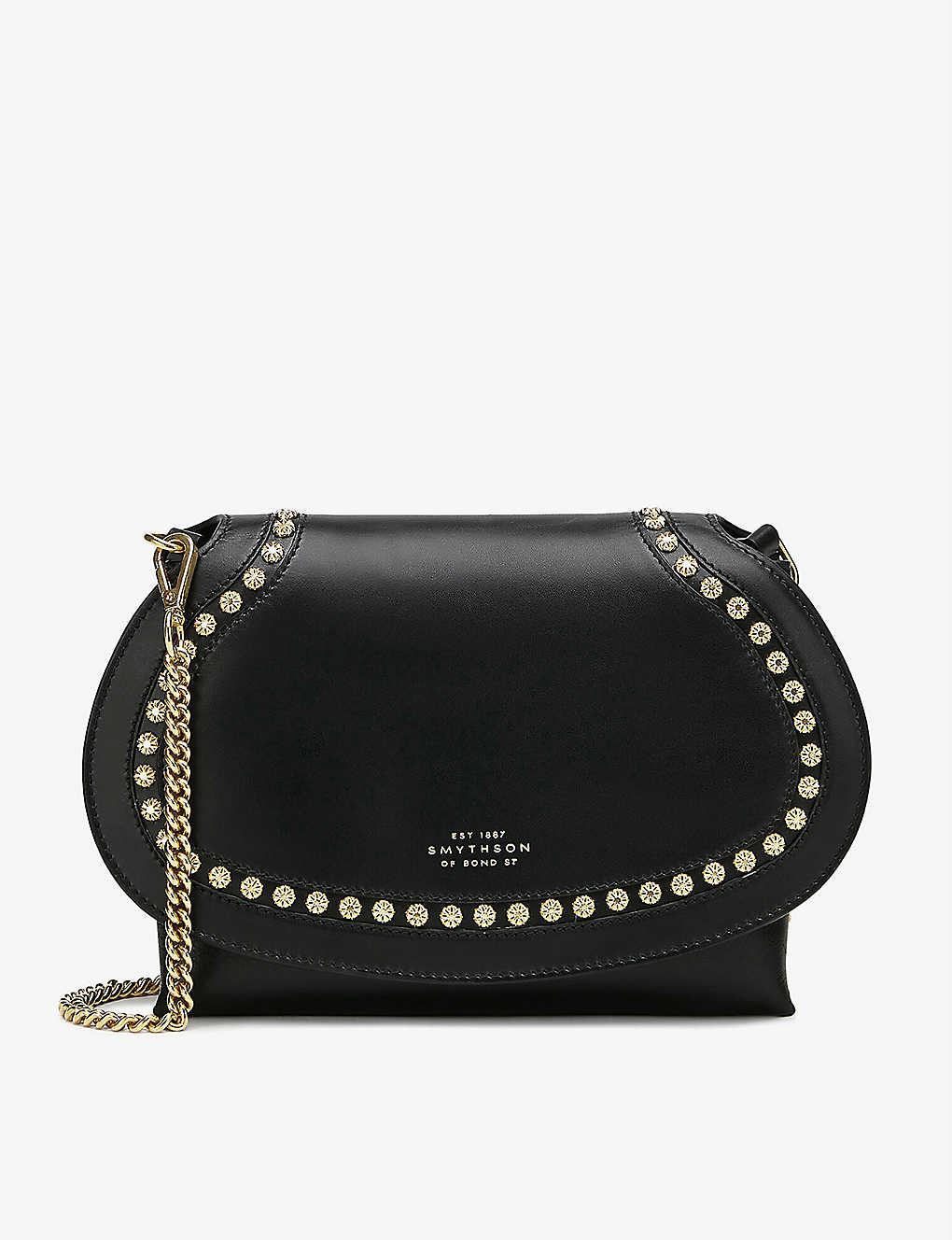 SMYTHSON: Saddle Studs Pillow leather cross-body bag
