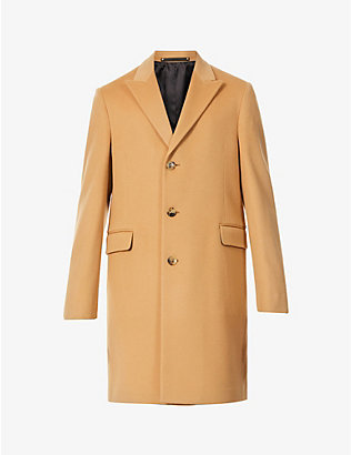 PAUL SMITH: Epson single-breasted wool and cashmere-blend coat