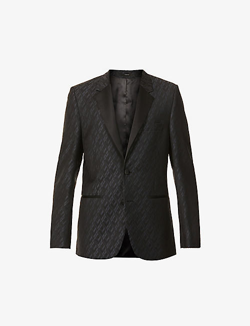 PAUL SMITH: Jacquard slim-fit wool blazer