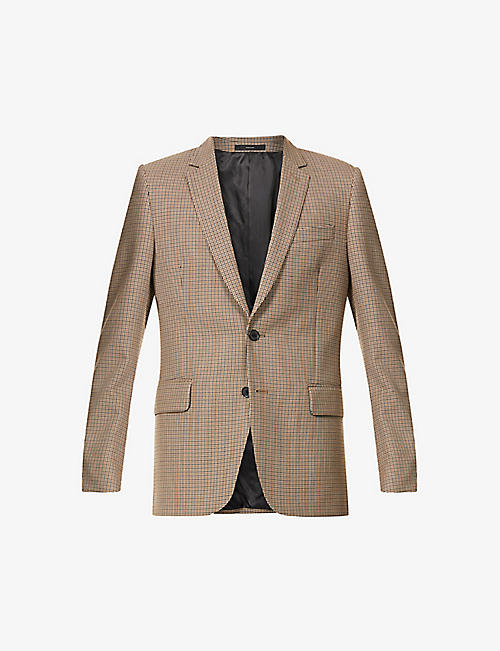 PAUL SMITH: Houndstooth Soho-fit wool jacket