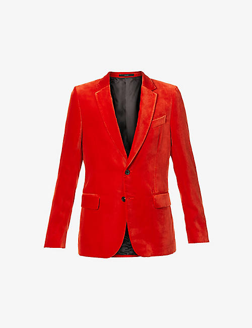 PAUL SMITH: Slim-fit velvet blazer